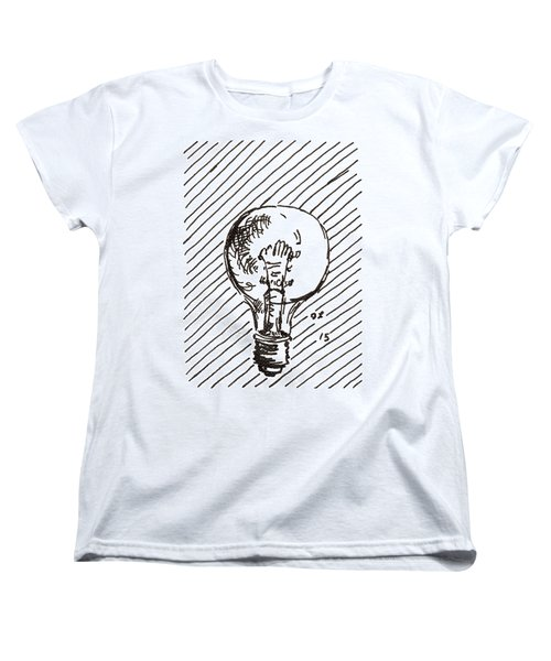 Light Bulb 1 2015 - Aceo Women's T-Shirt (Standard Cut) by Joseph A Langley