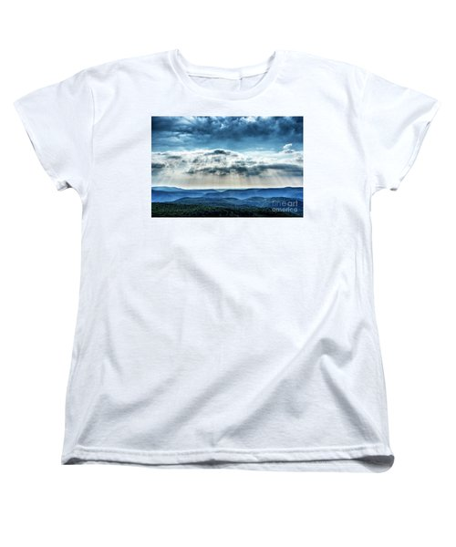 Women's T-Shirt (Standard Cut) featuring the photograph Light Rains Down by Thomas R Fletcher