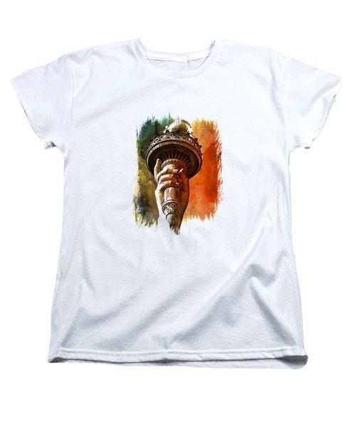 Light The Path Art 1 Women's T-Shirt (Standard Cut) by Di Designs