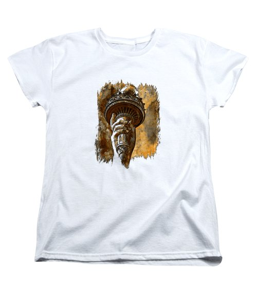 Light The Path Earthy 3 Dimensional Women's T-Shirt (Standard Cut) by Di Designs