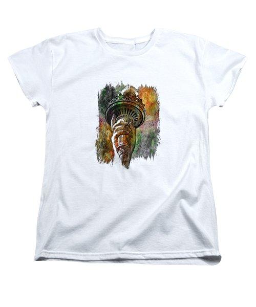 Light The Path Muted Rainbow 3 Dimensional Women's T-Shirt (Standard Cut) by Di Designs