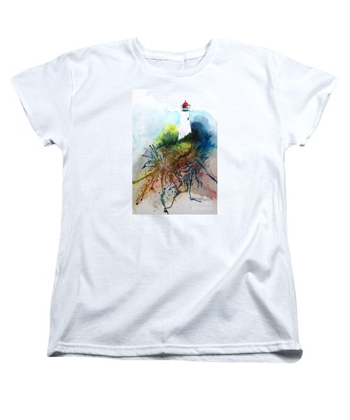 Lighthouse I - Original Sold Women's T-Shirt (Standard Cut) by Therese Alcorn