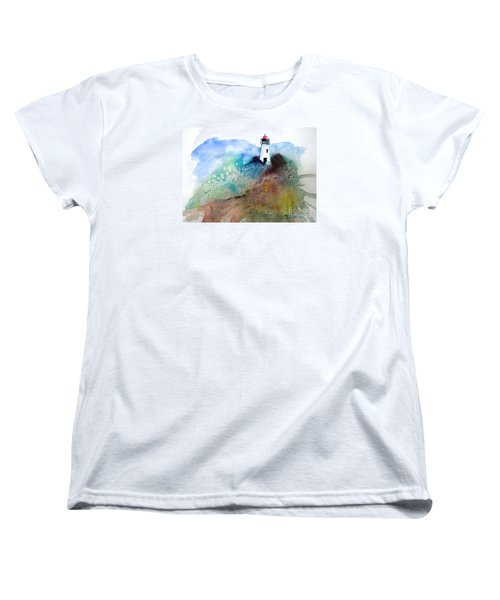 Lighthouse II - Original Sold Women's T-Shirt (Standard Cut) by Therese Alcorn