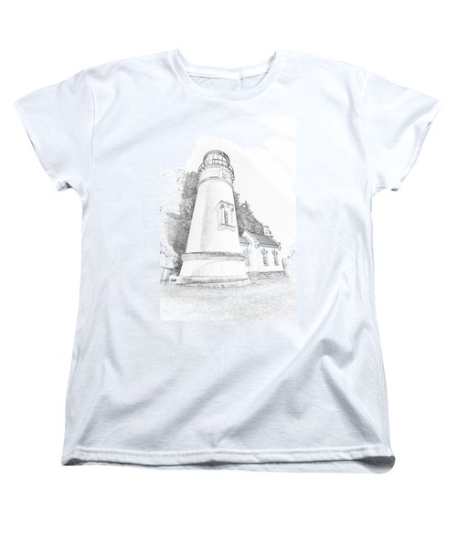 Lighthouse In Oregon Women's T-Shirt (Standard Cut)