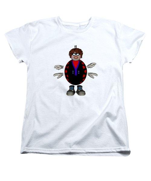Lily The Ladybug Women's T-Shirt (Standard Cut) by Steve Kelly