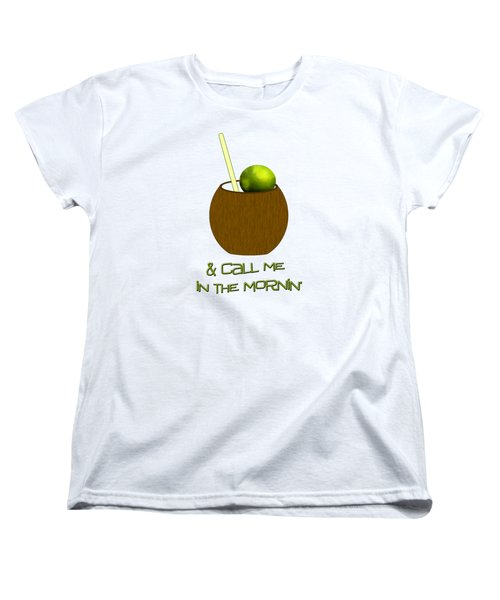 Lime In The Coconut Women's T-Shirt (Standard Cut) by Methune Hively