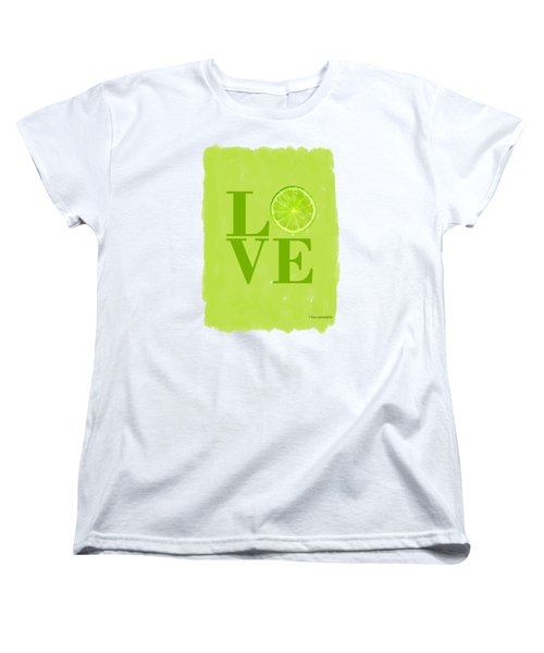 Lime Women's T-Shirt (Standard Cut) by Mark Rogan