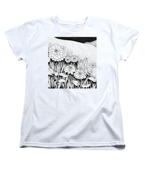 Linda's Garden Women's T-Shirt (Standard Cut) by Lou Belcher