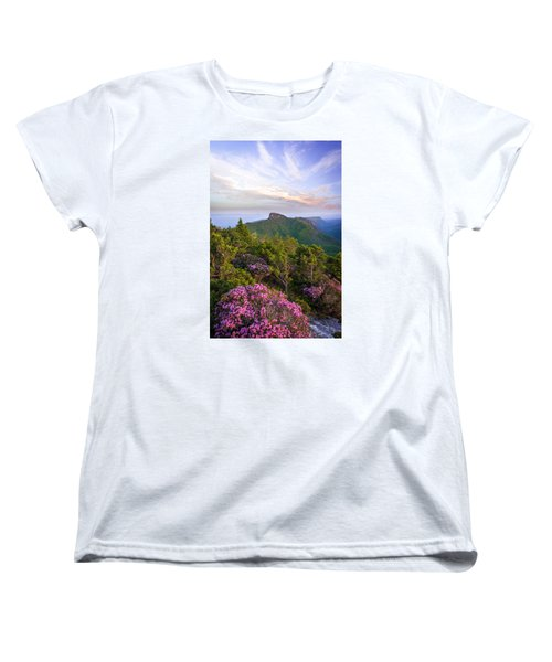 Linville Gorge Spring Bloom Women's T-Shirt (Standard Cut) by Serge Skiba