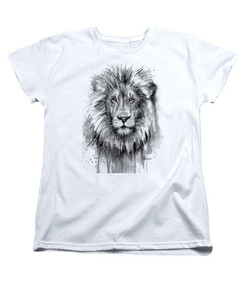 Lion Watercolor  Women's T-Shirt (Standard Fit)