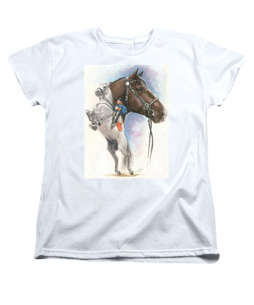 Women's T-Shirt (Standard Cut) featuring the mixed media Lippizaner by Barbara Keith