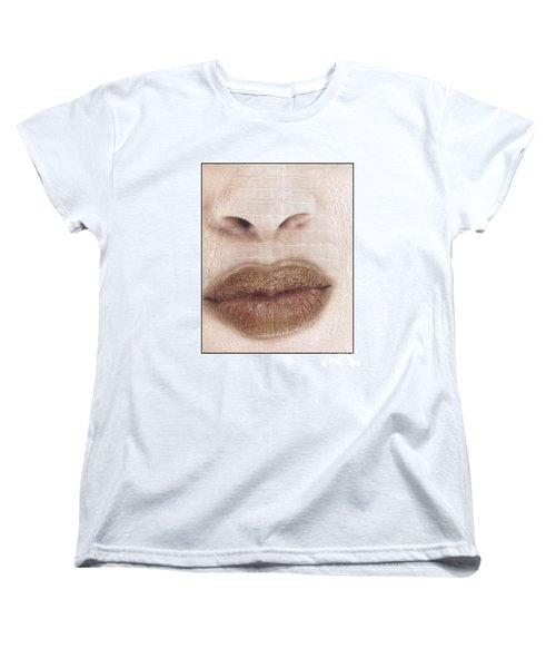 Women's T-Shirt (Standard Cut) featuring the photograph Lips And Nose. Female by Michael Edwards
