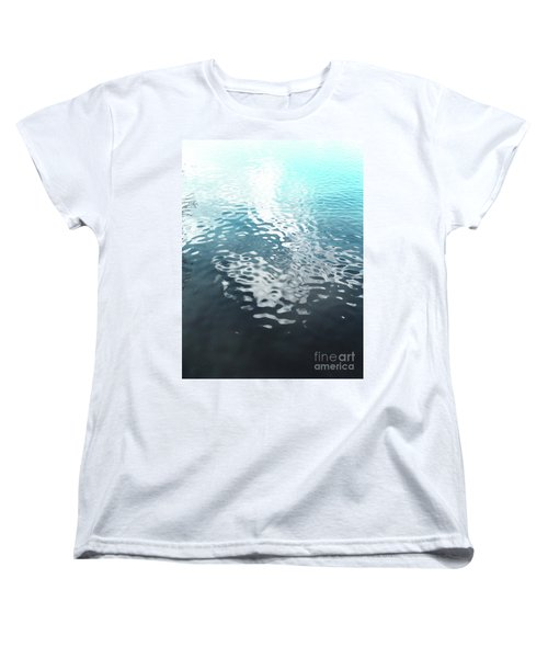 Liquid Blue Women's T-Shirt (Standard Cut) by Rebecca Harman