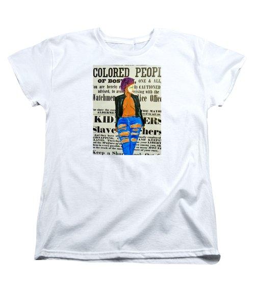 Lisa  Caution Women's T-Shirt (Standard Cut) by Deedee Williams