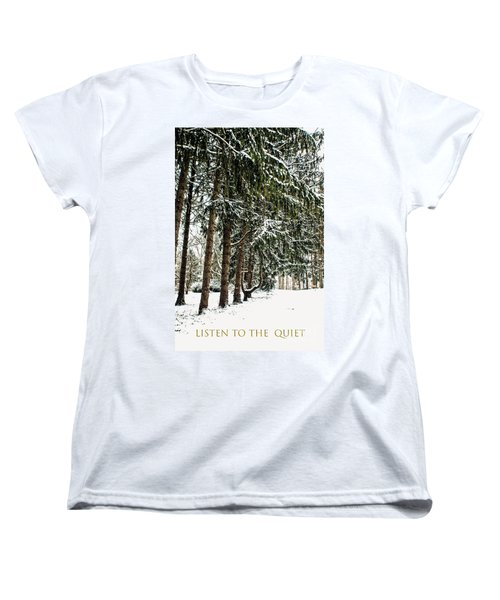 Women's T-Shirt (Standard Cut) featuring the photograph Listen To The Quiet by Sandy Moulder