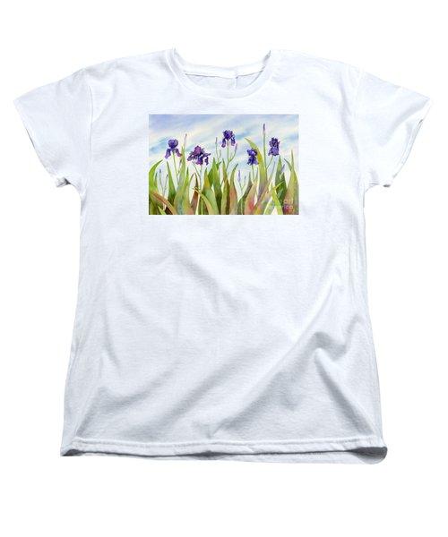 Listening To Divas Women's T-Shirt (Standard Cut) by Amy Kirkpatrick