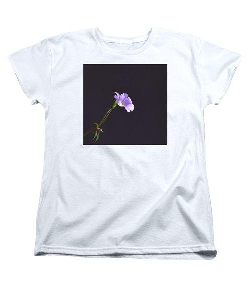Little Lavender Flowers Women's T-Shirt (Standard Cut) by Kathy Eickenberg