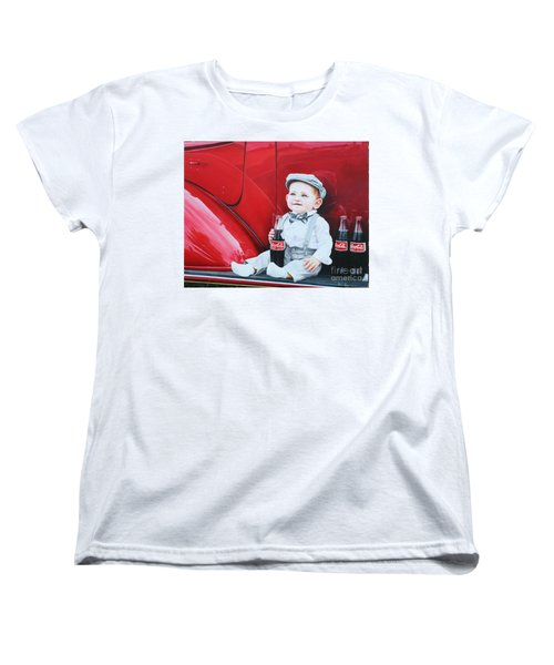 Women's T-Shirt (Standard Cut) featuring the painting Little Mason by Mike Ivey