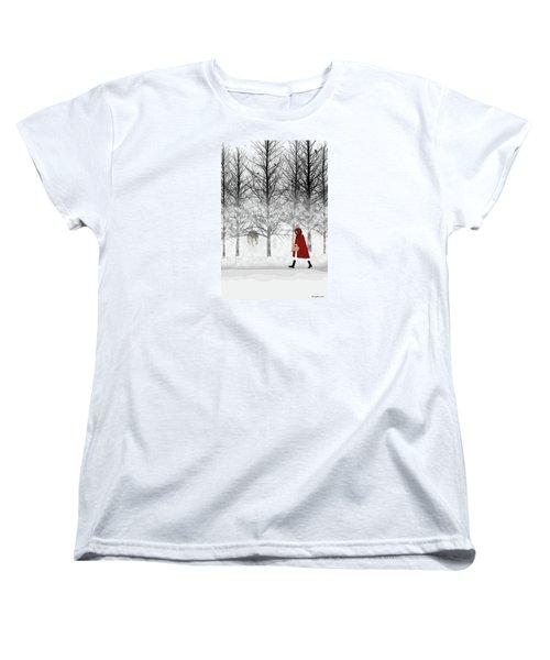 Women's T-Shirt (Standard Cut) featuring the digital art Little Red by Nancy Levan