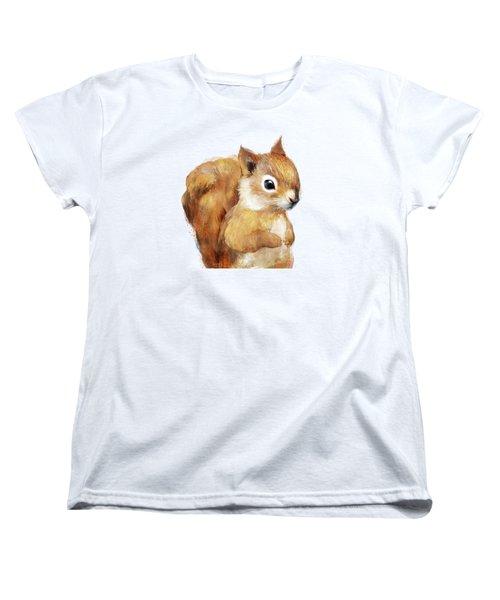 Little Squirrel Women's T-Shirt (Standard Cut) by Amy Hamilton
