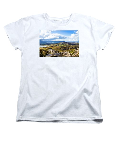 Women's T-Shirt (Standard Cut) featuring the photograph Little Stream Running Down The Macgillycuddy's Reeks by Semmick Photo
