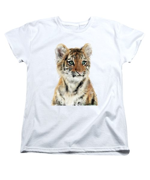 Little Tiger Women's T-Shirt (Standard Cut) by Amy Hamilton