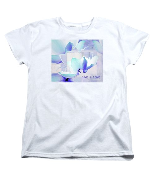 Women's T-Shirt (Standard Cut) featuring the photograph Live N Love - Absf43 by Variance Collections