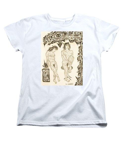 Live Nude 10 Female Women's T-Shirt (Standard Cut) by Robert SORENSEN