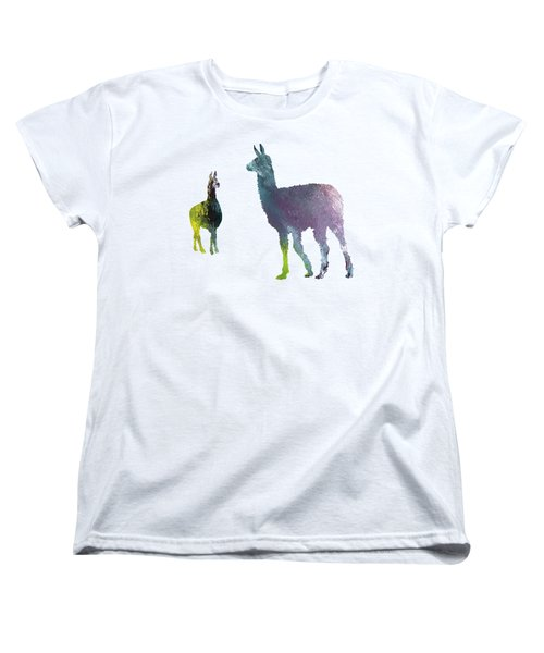 Llama Women's T-Shirt (Standard Cut) by Mordax Furittus