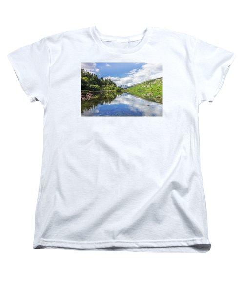 Llyn Mymbyr And Snowdon Women's T-Shirt (Standard Cut) by Ian Mitchell