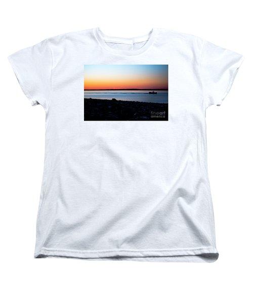Lobster Boat In Maine Women's T-Shirt (Standard Cut) by Diane Diederich
