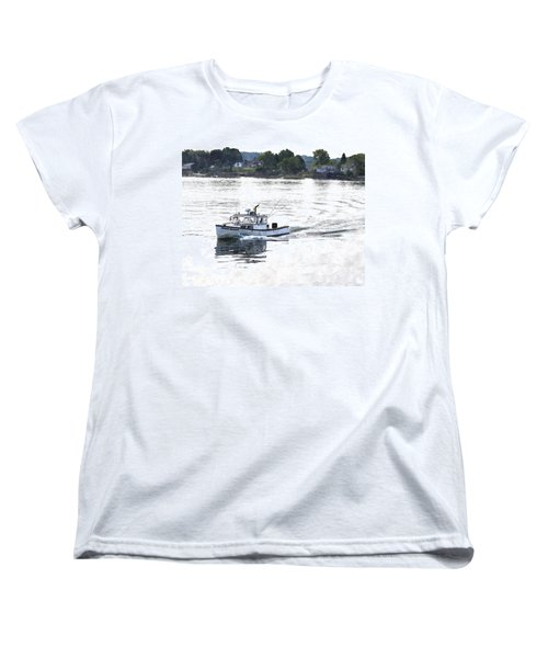 Lobster Boat Lbwc Women's T-Shirt (Standard Cut)