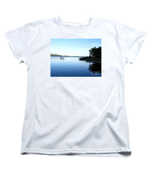 Loch Lomond Women's T-Shirt (Standard Cut) by Mini Arora