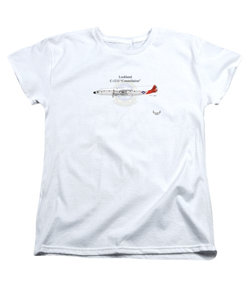 Lockheed C-121j Constellation Women's T-Shirt (Standard Cut) by Arthur Eggers