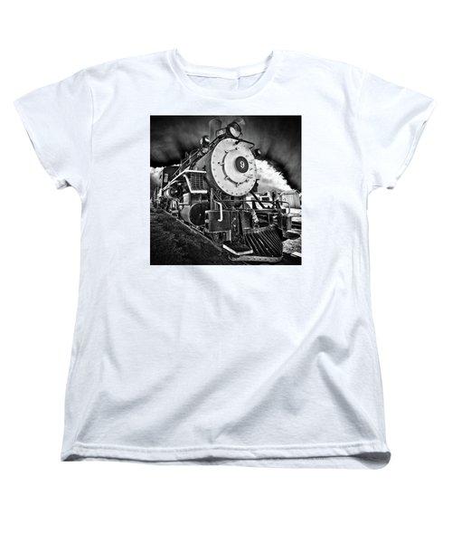 Locomotive Nine Women's T-Shirt (Standard Cut) by Marius Sipa