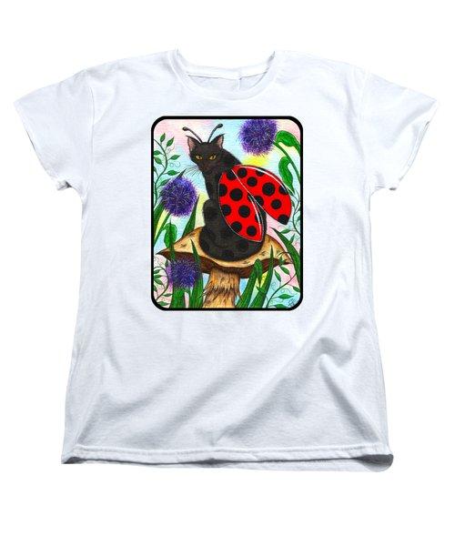 Logan Ladybug Fairy Cat Women's T-Shirt (Standard Cut) by Carrie Hawks