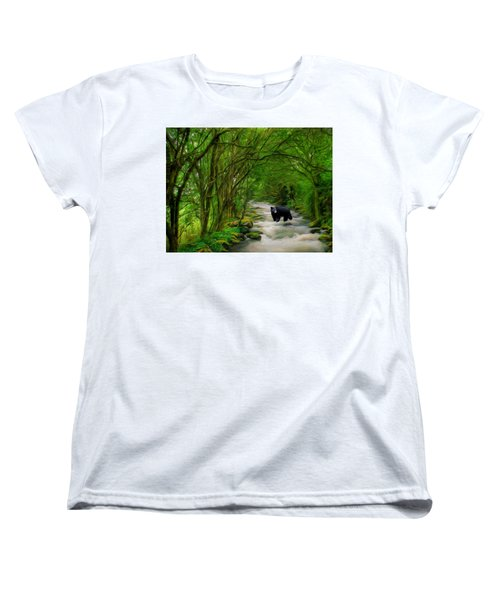 Women's T-Shirt (Standard Cut) featuring the painting Lonely Hunter by Steven Richardson