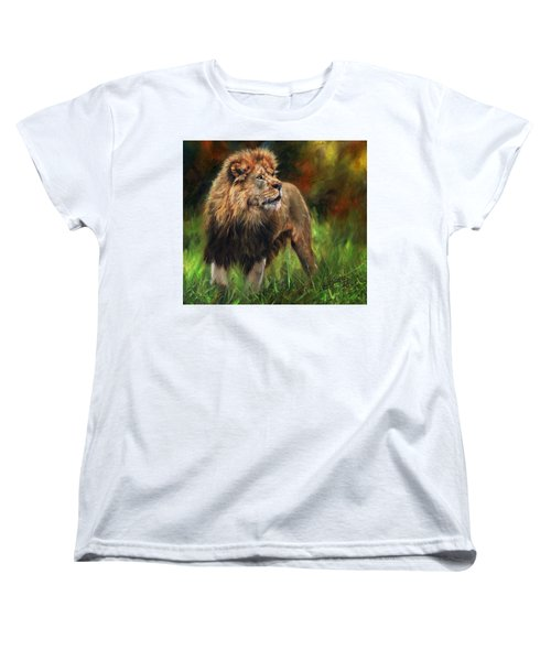Look Of The Lion Women's T-Shirt (Standard Cut) by David Stribbling