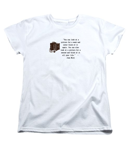 Looking At A Picture Women's T-Shirt (Standard Cut) by Pat Cook