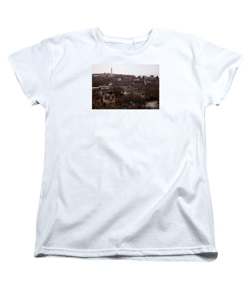 Women's T-Shirt (Standard Cut) featuring the digital art Looking North From  Lafayette And Summit. by David Blank