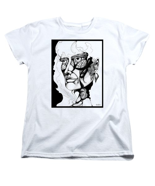 Women's T-Shirt (Standard Cut) featuring the drawing Lord Of The Flies Study by Curtiss Shaffer