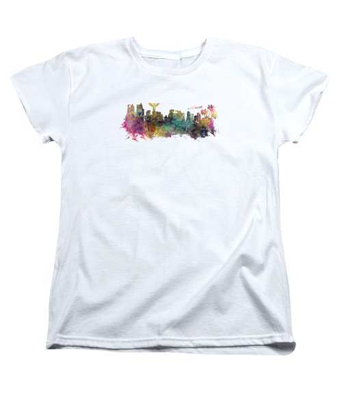 Los Angeles Skyline Women's T-Shirt (Standard Cut) by Justyna JBJart