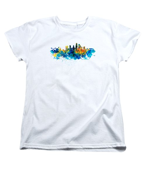 Los Angeles Skyline Women's T-Shirt (Standard Cut) by Marian Voicu