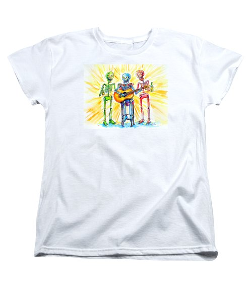 Women's T-Shirt (Standard Cut) featuring the painting Los Tres Cantantes by Heather Calderon