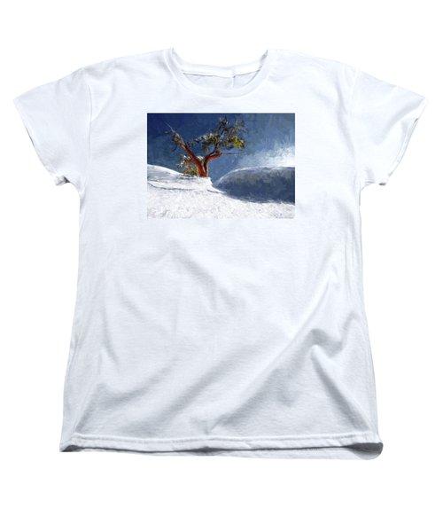 Lost In The Snow Women's T-Shirt (Standard Cut) by Alex Galkin