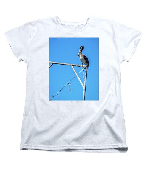 Louisiana's State Bird Women's T-Shirt (Standard Cut) by Andy Crawford