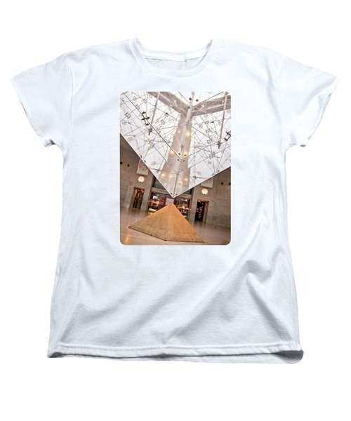 Women's T-Shirt (Standard Cut) featuring the photograph Louvre Pyramid by Silvia Bruno