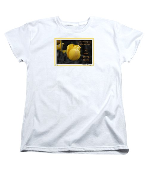 Women's T-Shirt (Standard Cut) featuring the digital art Love Is About Giving by Holley Jacobs