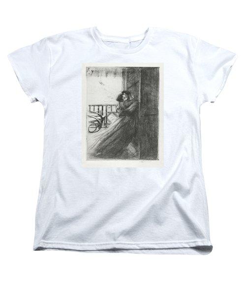 Love - La Femme Series Women's T-Shirt (Standard Cut) by Paul-Albert Besnard