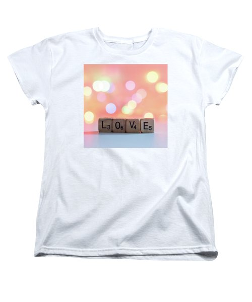 Love Lights Square Women's T-Shirt (Standard Cut) by Terry DeLuco
